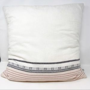 Hearth & Hand Accents - Hearth & Hand Ombré Stripe Throw Pillow Rose Cream